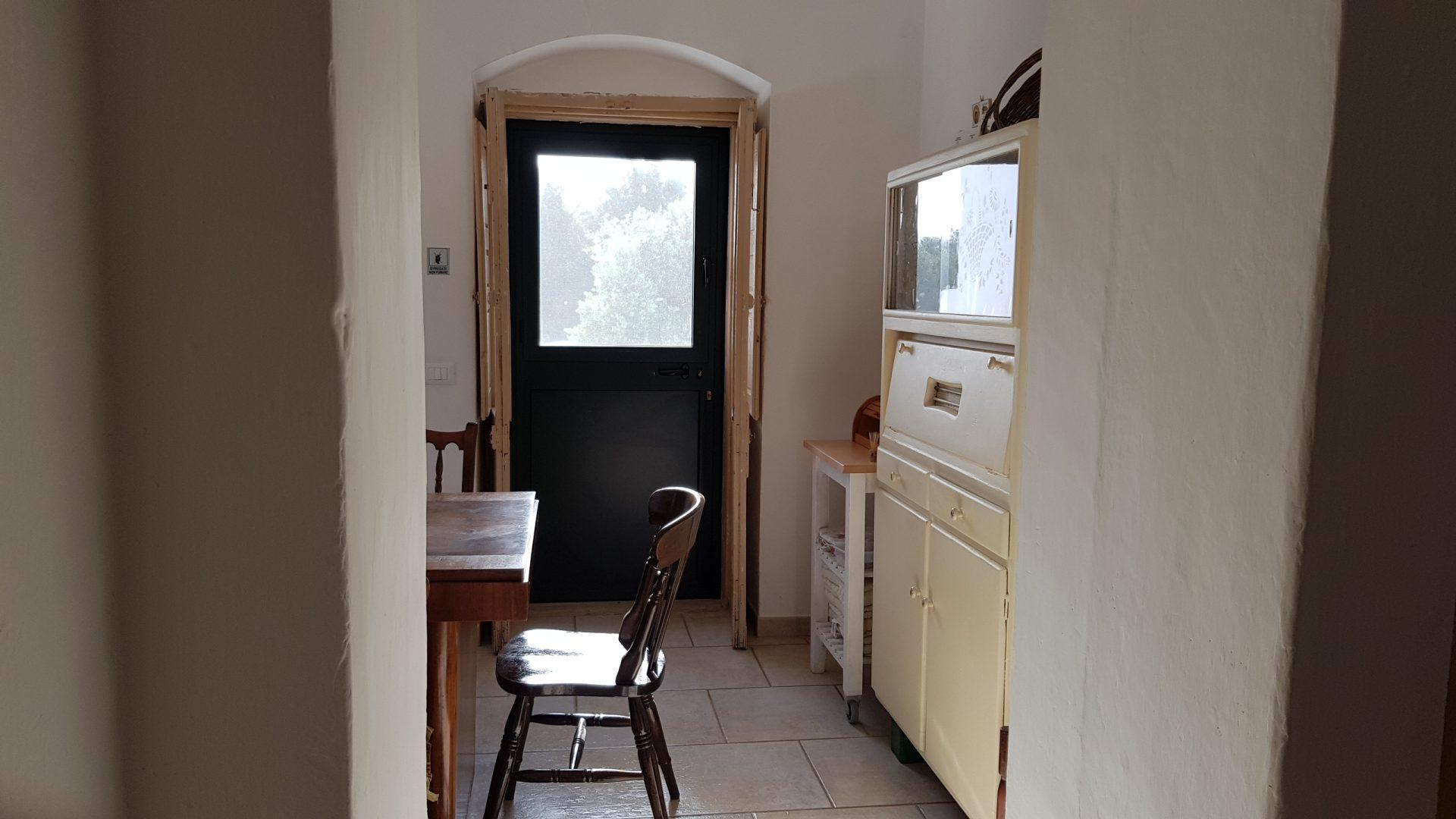Access to the private terrace at Masseria Bellavista Ostuni Vacation holiday rental villa in Puglia with pool and seaview