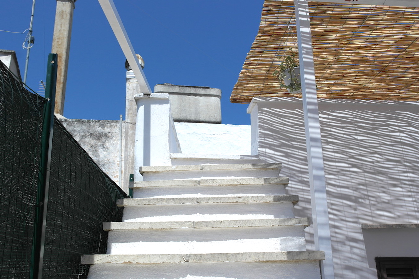 The access to the upper rooftop patio at Casa Caterina ostuni puglia vacation holiday rental house