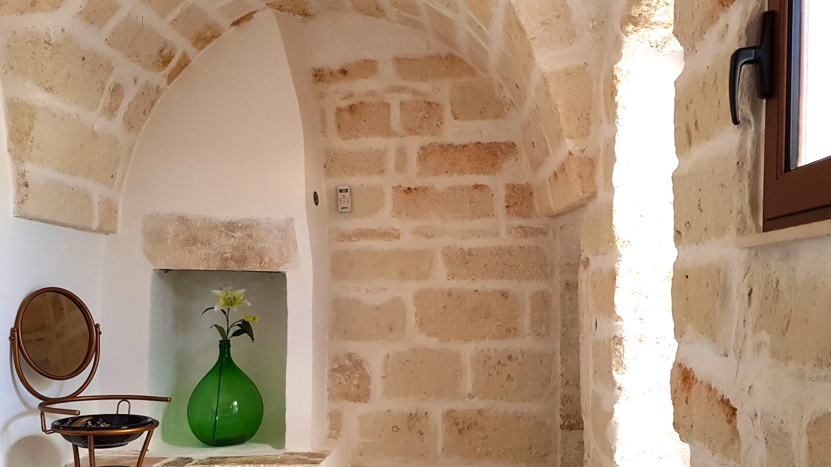 Beautifully appointed main bedroom in Casa dei Fiori holiday vacation home rental in Ostuni Puglia