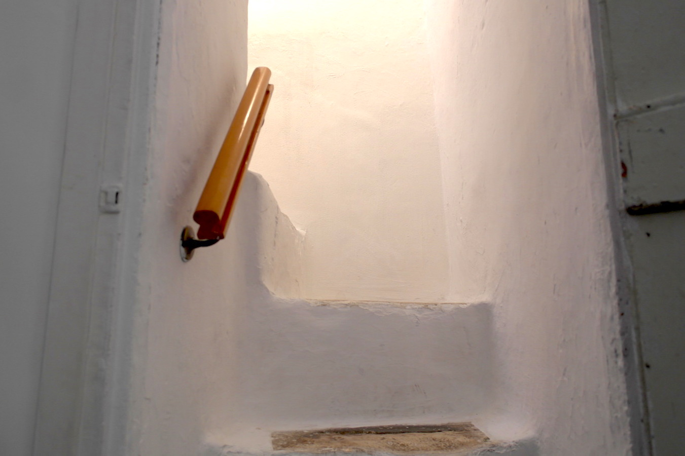 Steps going to the second floor at Casa Caterina ostuni puglia vacation holiday rental house