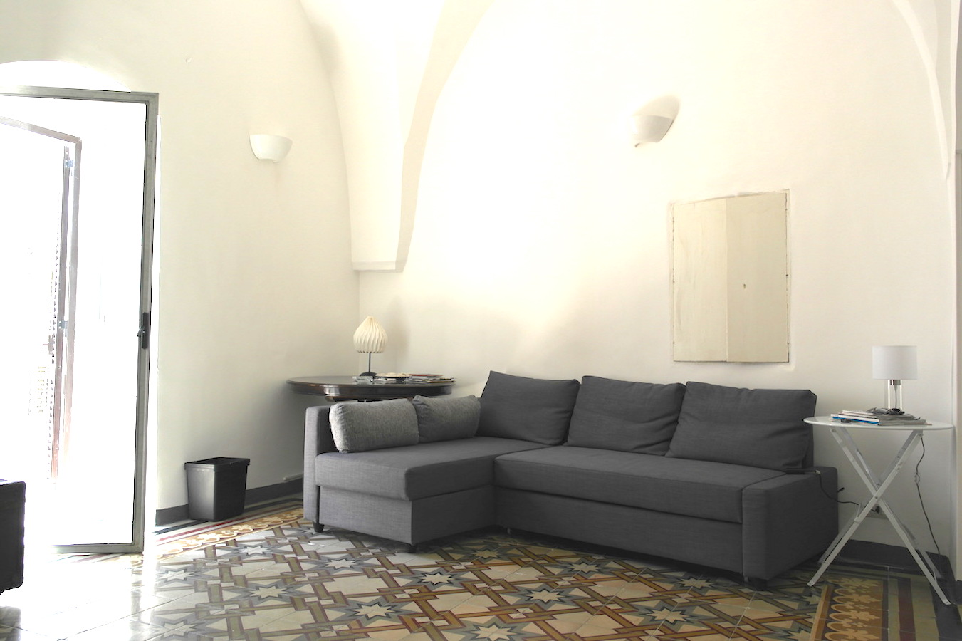 Bright and spacious living room at Casa Caterina ostuni puglia vacation holiday rental house