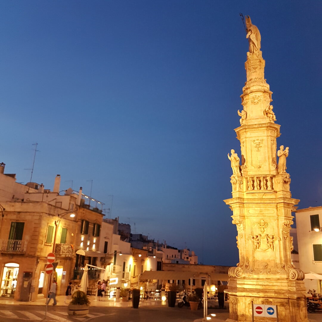 Ostuni Puglia at night