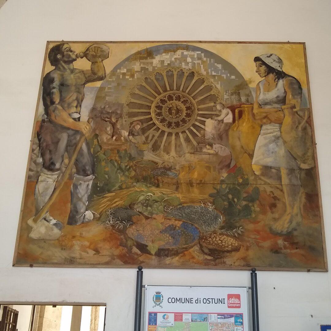 Painting depicting Ostuni History